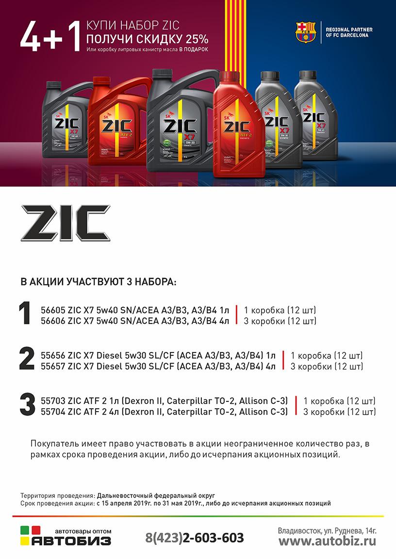 Купи набор ZIC со скидкой 25%!